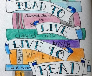 book, live, and read image