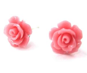 earrings, flowers, and roses image