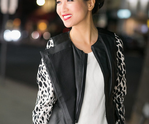 fashion, asymmetric vest, and leather image