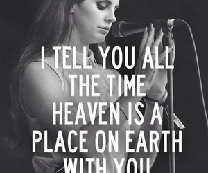 lana del rey, heaven, and music image