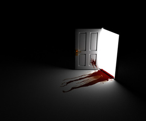 blood, door, and light image