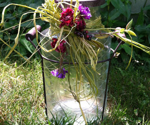 flowers in lattice jar image