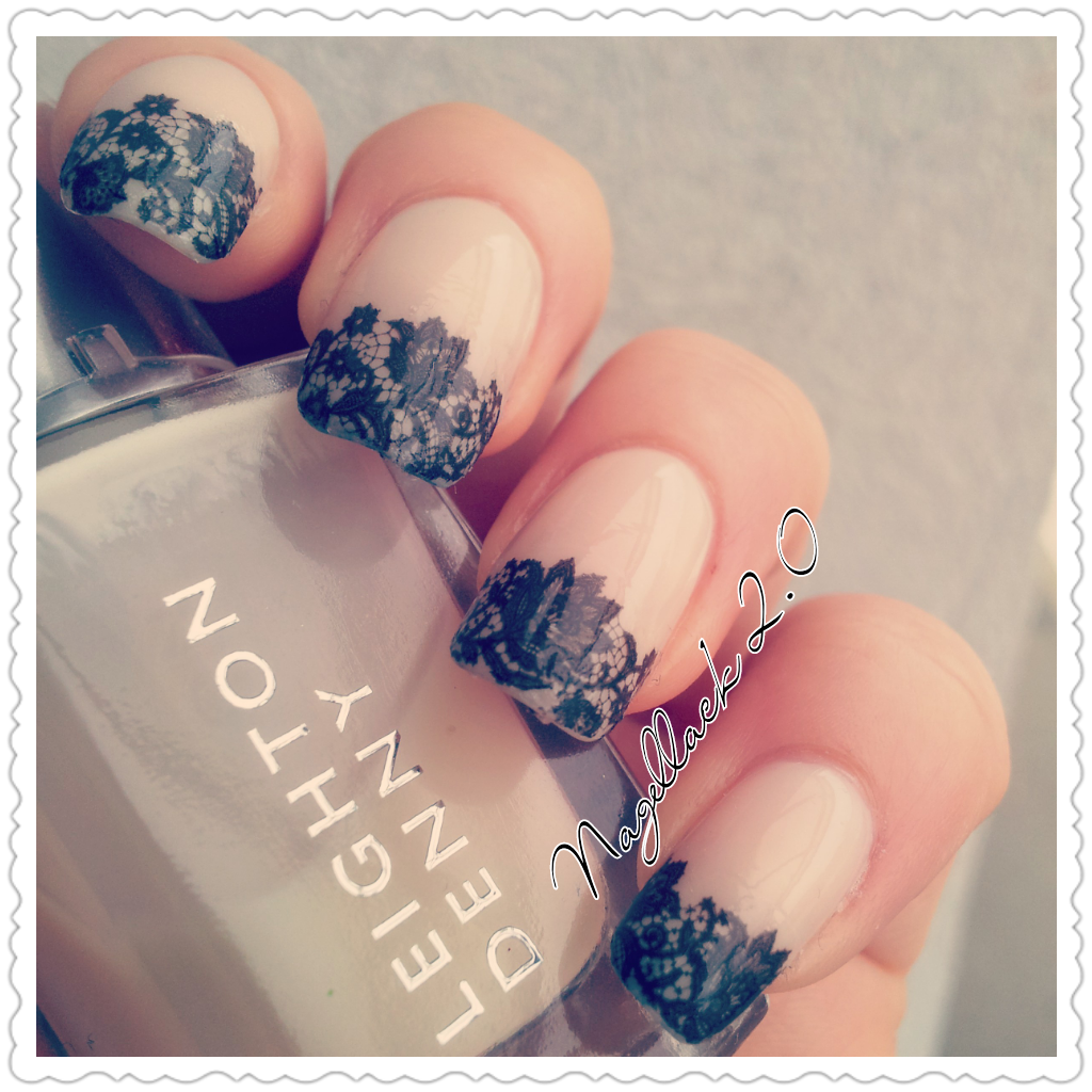 french nails uploaded by leyli on We Heart It