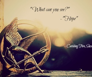 hope, hunger games, and catching fire image