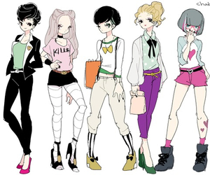 draw, drawing, and fashion image
