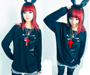 bunny, goth, and japanese image
