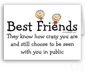 best friends, crazy, and friends image