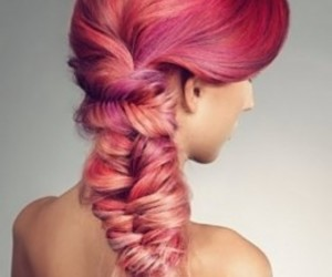 braid, colored hair, and hairstyle image