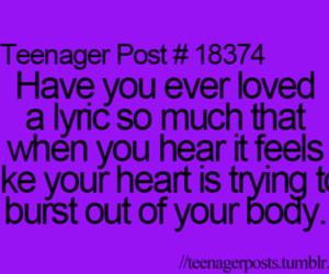 teenager post, Lyrics, and music image