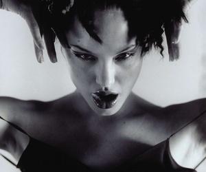 Angelina Jolie, b&w, and model image