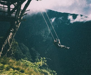 swing, mountains, and nature image