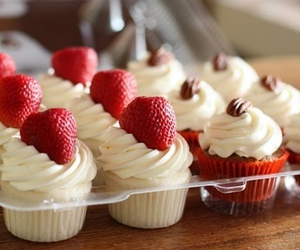 cupcakes, sweet, and delicious image