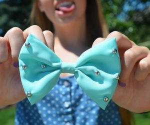 bow, tumblr, and blue image