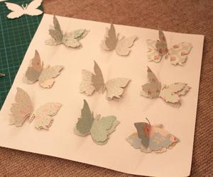 art, butterfly, and Paper image