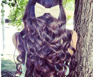 bow, hair, and love image