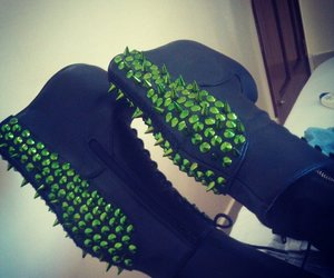 jeffrey cambell, shoes addict, and spike boots image