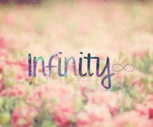 infinity, flowers, and pink image
