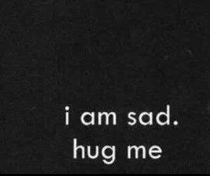sad, hug, and quote image