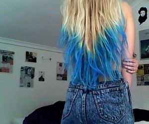 blue, curly, and style image