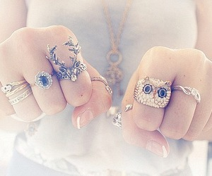 accessories, rings, and fingers image