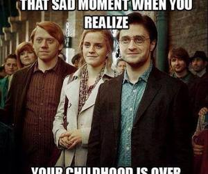 harry potter, childhood, and sad image