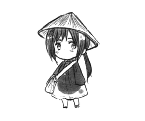 adorable, anime, and black and white image