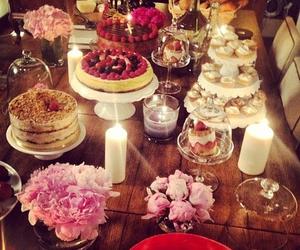 cake, luxury, and flowers image
