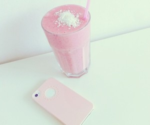 healthy, pink, and strawberry image