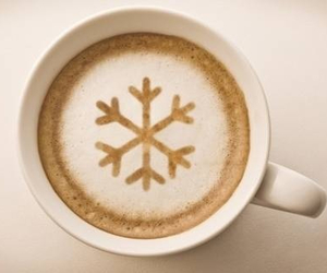 coffee, snowflake, and winter image