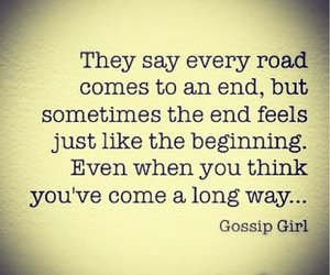 gossip girl, quotes, and road image