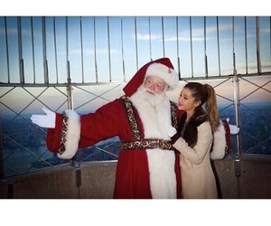 ariana grande, christmas, and santa claus image