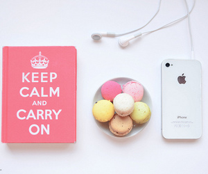 iphone, keep calm, and pink image