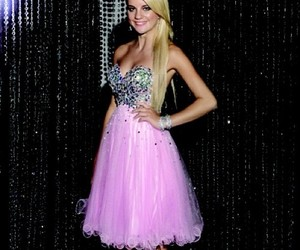 dress, pageant, and Prom image