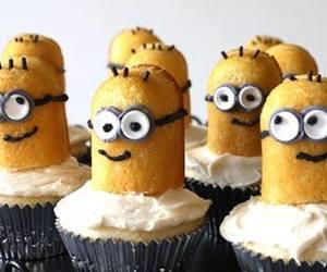 cupcake, minions, and cute image