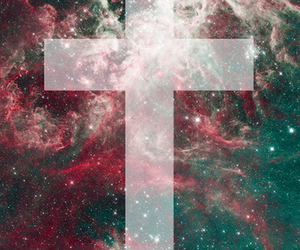 <3, cross, and green image