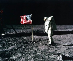moon, space, and usa image