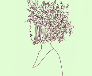 artist, flowers, and hair cut image