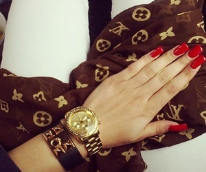 girly, luxury, and nails image