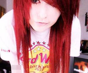 girl, red, and scene image