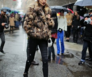 fashion, model, and fur image