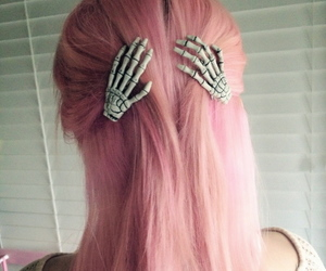 hair, pink, and hands image