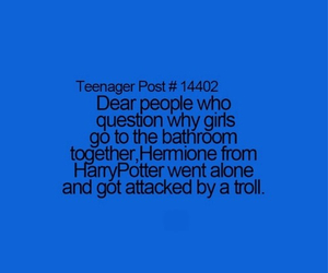 harry potter, teenager post, and bathroom image