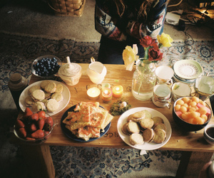 food, vintage, and breakfast image