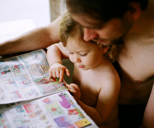 baby, beautiful, and father image