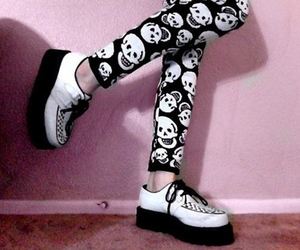 grunge, skull, and creepers image