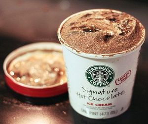 starbucks, ice cream, and chocolate image