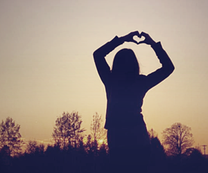 heart, love, and girl image