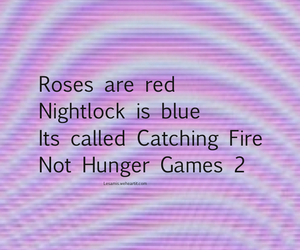 idk, the hunger games, and catching fire image