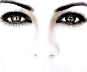 eyes, black, and black and white image