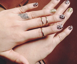 animal print, tattoo, and nails image